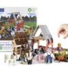 Farmyard build & play plastic free play set